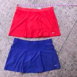 Bundle of 2 Nike Dri Fit tennis skorts